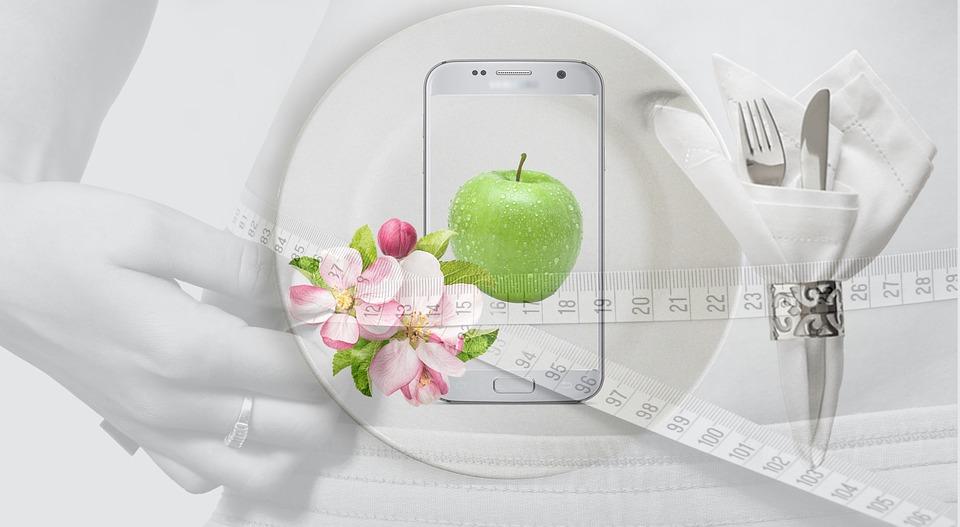 diéta, meter, mobil