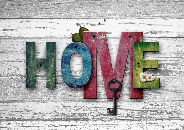 nápis domov